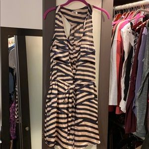 Collective concepts silky dress lined